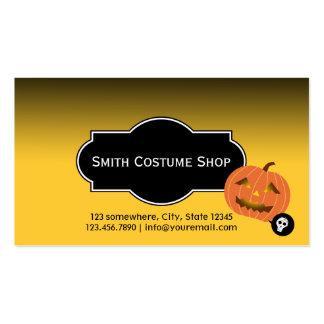Halloween Pumpkin Costume Rental Business Card