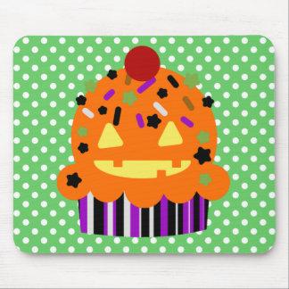 Halloween Pumpkin Cupcake Mouse Pad