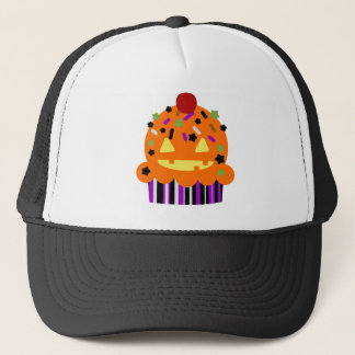 Halloween Pumpkin Cupcake Trucker Hat
