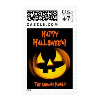 Halloween Pumpkin - Custom Postage Stamps