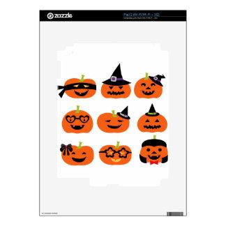 Halloween Pumpkin Cute Jack O Lanterns Skins For iPad 2