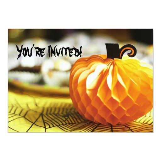 Halloween Pumpkin Decoration Invitation