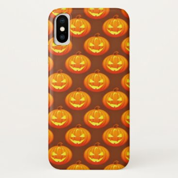 Halloween Themed Halloween Pumpkin Design iPhone X Case