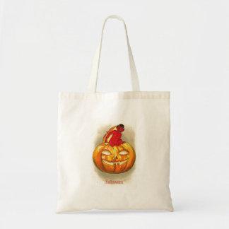 Halloween Pumpkin Devil Baby Tote Bag