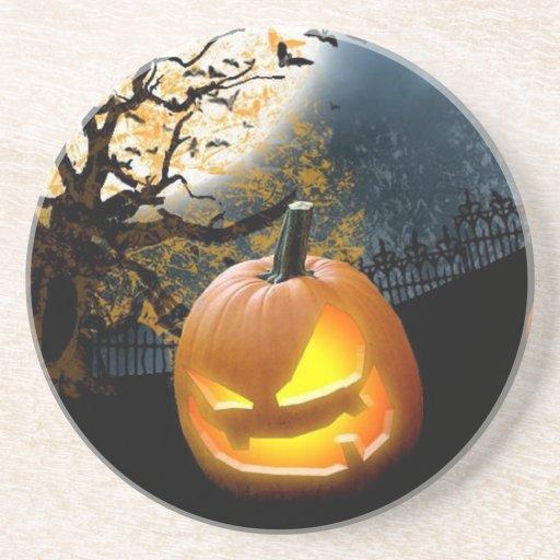 Halloween Pumpkin Drink Coaster | Zazzle