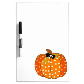 Halloween Pumpkin Dry-Erase Whiteboards