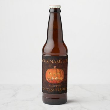 Halloween Themed Halloween pumpkin elegant beer bottle label