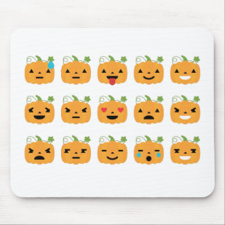 halloween pumpkin emojis mouse pad