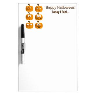 Halloween Pumpkin Emotion Dry-Erase Board
