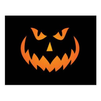 Halloween Pumpkin Face #2 Postcard