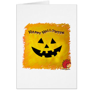 Halloween Pumpkin Face 2 Stationery Note Card