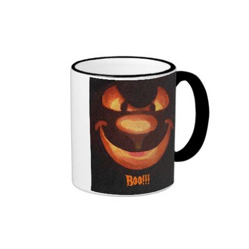 Halloween Pumpkin Face - Boo!!! Mug