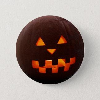 Halloween Pumpkin Face Button