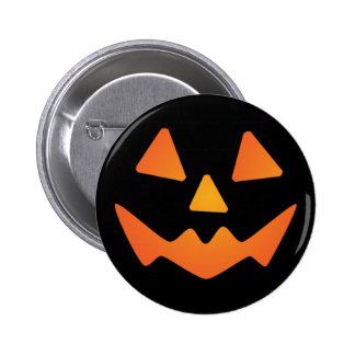 Halloween Pumpkin Face Pinback Buttons