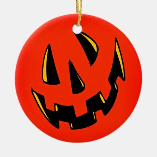 Halloween Pumpkin Face Christmas Tree Ornaments