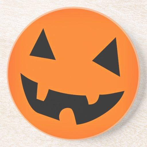 Halloween Pumpkin Face Coasters