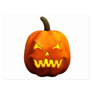 Halloween Pumpkin Face - Evil Postcard