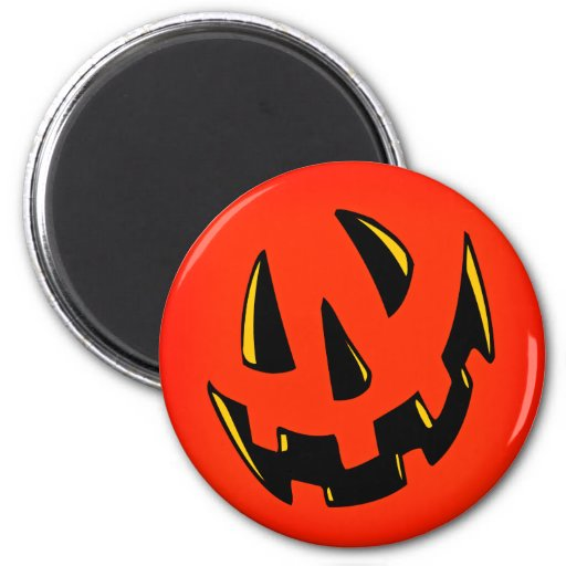 Halloween Pumpkin Face Refrigerator Magnet
