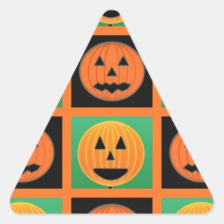 Halloween pumpkin face pattern triangle sticker