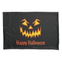 Halloween Pumpkin Face Pillow Case