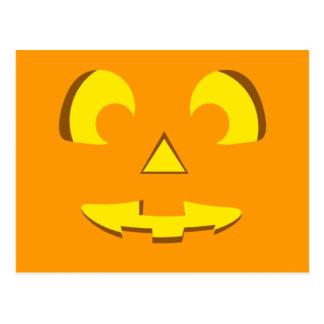 Halloween Pumpkin Face Postcard