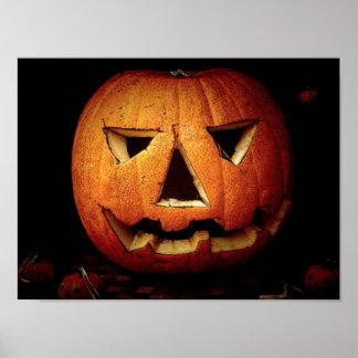 Halloween Pumpkin Face Print