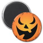 Halloween Pumpkin Face Round Magnet