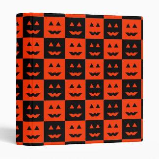 Halloween Pumpkin Face Squares Binder