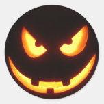 Halloween pumpkin face stickers