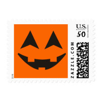Halloween Pumpkin Faces Custom Postage 2