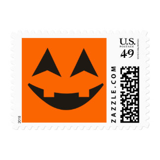 Halloween Pumpkin Faces Custom Postage 4