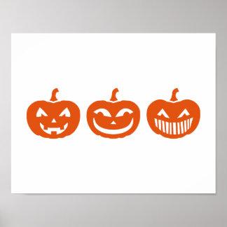 Halloween Pumpkin faces Poster