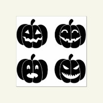 Halloween Pumpkin faces Rubber Stamp