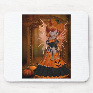 Halloween Pumpkin Fairy Mouse Pad