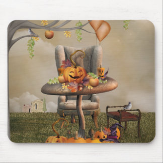 Halloween Pumpkin Feast Fantasy Art Mouse Pad