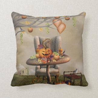 Halloween Pumpkin Feast Fantasy Art Throw Pillow