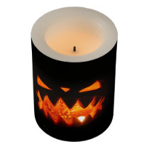 Halloween Pumpkin Flameless Candle