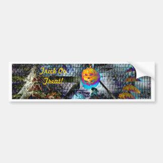 Halloween Pumpkin From Hell Bumper Sticker