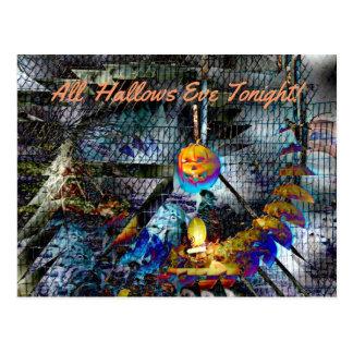Halloween Pumpkin From Hell Postcard