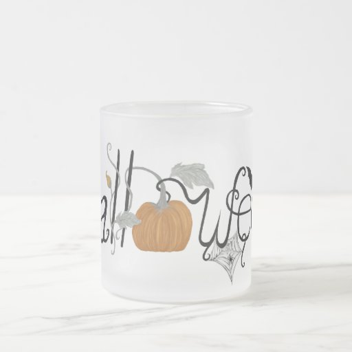 Halloween Pumpkin Frosted Mug