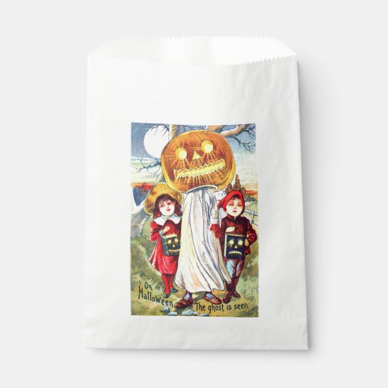 Halloween Pumpkin Ghost Favor Bag