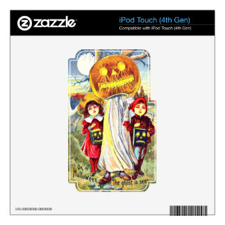Halloween Pumpkin Ghost iPod Touch 4G Decals