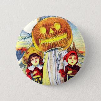 Halloween Pumpkin Ghost Pinback Button