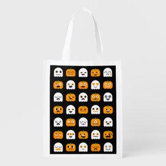 Halloween Pumpkin & Ghosts: Trick-or-Treat Bag