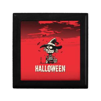 Halloween pumpkin girl jewelry box