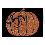 Halloween Pumpkin Glitter Texture 1 Greeting Card