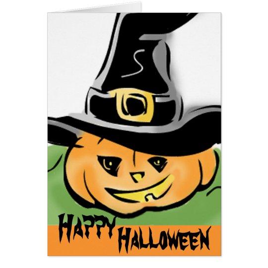 Halloween Pumpkin Greetings Card