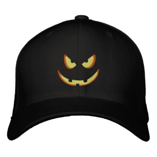 Halloween Pumpkin Grin - Booo! Embroidered Baseball Hat