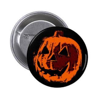 Halloween Pumpkin - grunge style + your ideas Button
