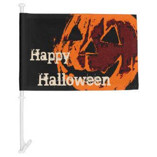 Halloween Pumpkin - grunge style + your ideas Car Flag